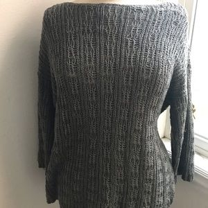 Eileen Fisher box top knit top L/P